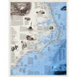 national geographic maps shipwrecks of the outer banks