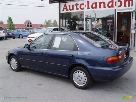 honda civic 95 lx 1995 harvard blue pearl honda civic lx sedan 28936794