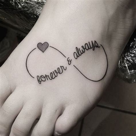 forever and always tattoos for couples image result for forever and always infinity