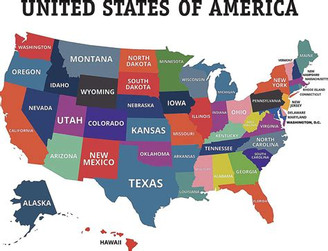 map of states official and non official nicknames of u s states