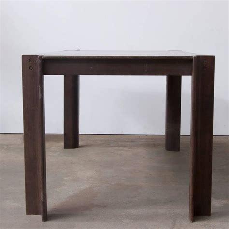 Stripping Dining Room Table 1974 Gis Bakker For Castelijn Brown Varnished Rectangel Dining Table For Sale At 1stdibs