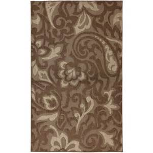 Home Depot Carpets Area Rugs Mohawk Home Forte Dark Cocoa 8 Ft X 10 Ft Area Rug The