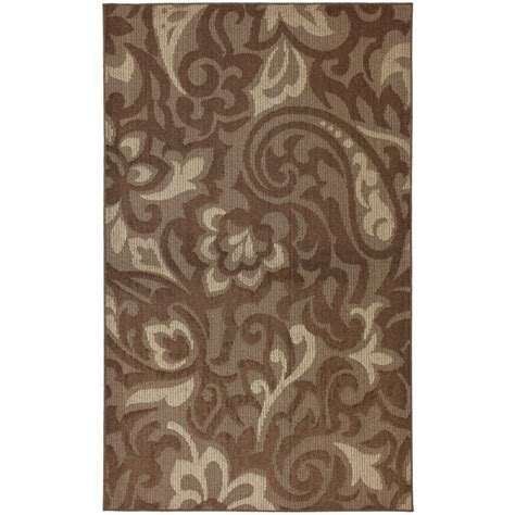 home depot accent rugs mohawk home forte dark cocoa 8 ft x 10 ft area rug the