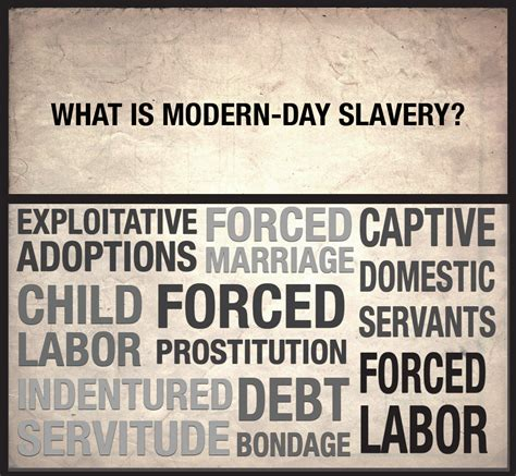 modern day slavery human made in a free world modern day slavery takes on many