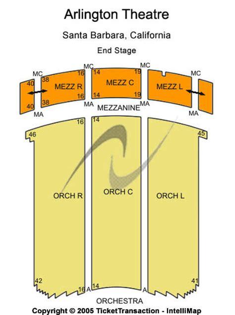 arlington theater seating chart primus arlington theatre tickets primus october 21
