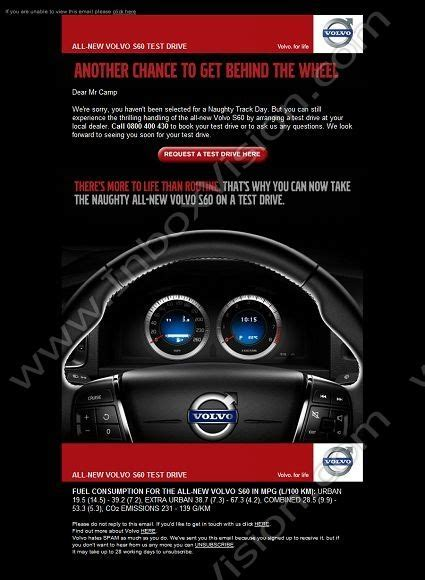 volvo email 18 best email design test drive images on pinterest