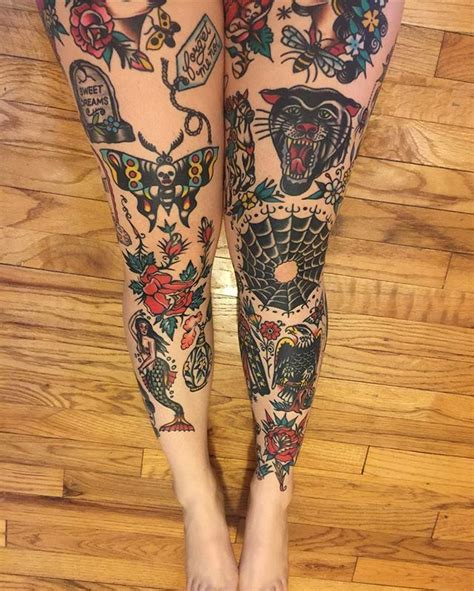 traditional leg tattoos best 25 american traditional sleeve ideas on