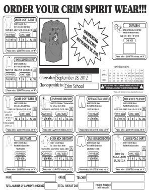 spirit wear order form template funzalushaka new forms apply 2017 fill printable