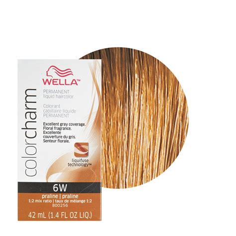 wella color charm wella color charm permament liquid hair color 42ml praline