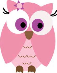 Pink owl clipart pink owl by sara ramon
