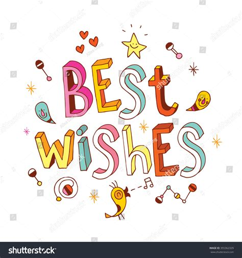 wishing the best best wishes stock vector 355362329