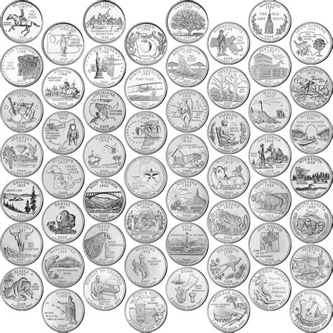 quarter map of the united states those 6 best state quarters those6things