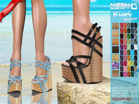 Sandal Belleza mesh agency ma wedge sandals quot kiwi quot belleza slink maitreya resize version 50 colors pack
