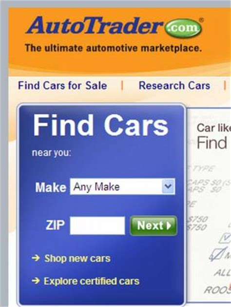 autotrader new cars used cars find cars for sale and how to use auto trader online features lovetoknow