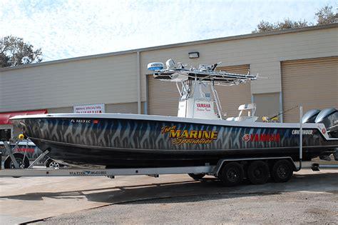 offshore fishing boat wraps wrapped up boat vehicle wraps daytona beach florida