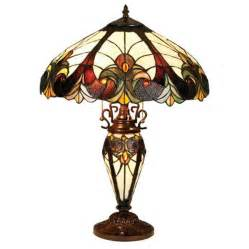 shop chloe lighting 25 in tiffany style indoor table lamp with glass shade at lowes com