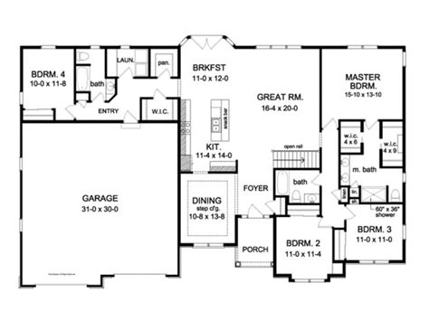 2300 square foot house plans 4 3 2300 sq ft house plans pinterest ranch exterior