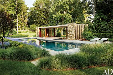 an airy connecticut poolhouse architectural digest tour a contemporary connecticut poolhouse photos