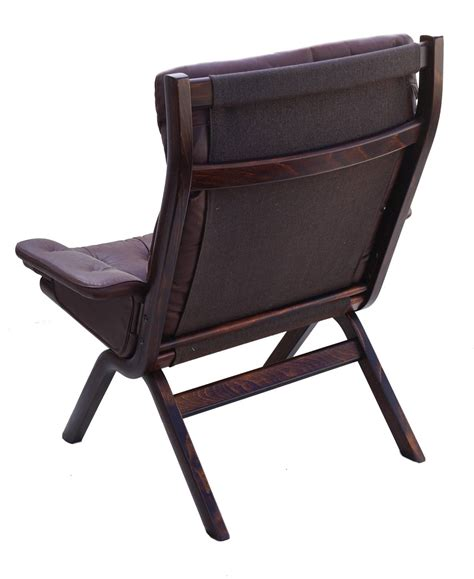 modern leather chair and ottoman danish modern leather sculptural sling lounge chair and
