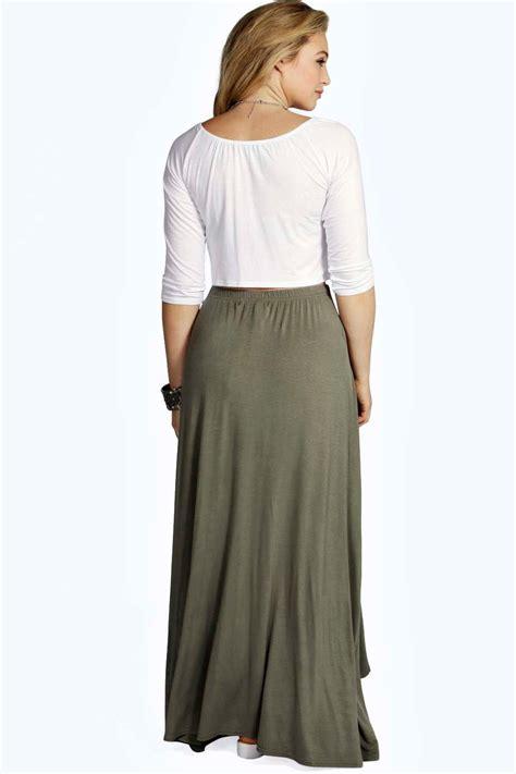 boohoo womens eliza button through maxi skirt ebay