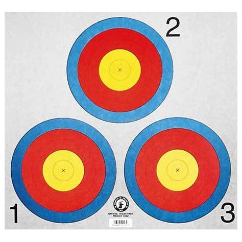 printable vegas targets martin archery vegas 3 spot target face set