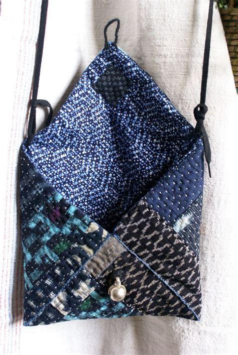 tutorial tas rajut tribal small bag pouch in vintage kasuri japanese fabrics hand