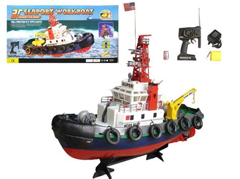 boat browser not working 20 quot seaport work tug boat rc remote control spurts water