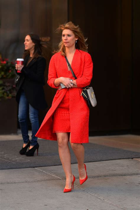 claire danes leggy  red high heels  york city