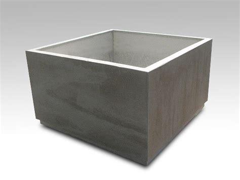 Square Concrete Planters by Planters Ernsdorf Design Concrete Pit Bowls