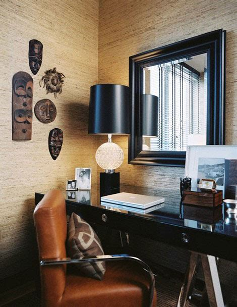 manly decor masculine home office black desk picsdecor com