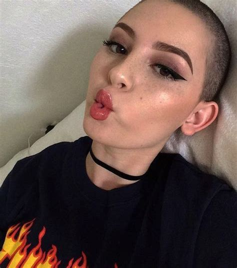 hairstyle for bald in forehead women 25 best shaved head girls ideas on pinterest shaved