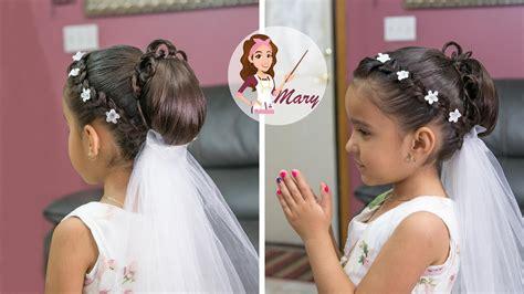 peinados para nias de 10aos para la comunion peinado recogido para primera comunion youtube