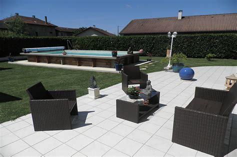 Piscine Hors Sol En Acier 2385 by Piscine Hors Sol Ou Semi Enterr 233 E Acier Et Bois 7m X 3 50m