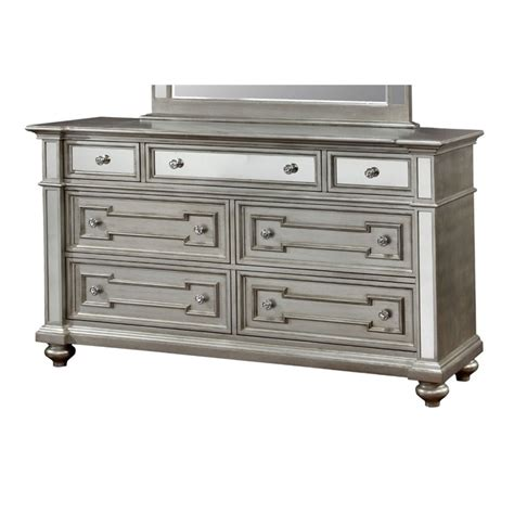 furniture of america mirrored dresser furniture of america farrah 7 drawer mirrored dresser in