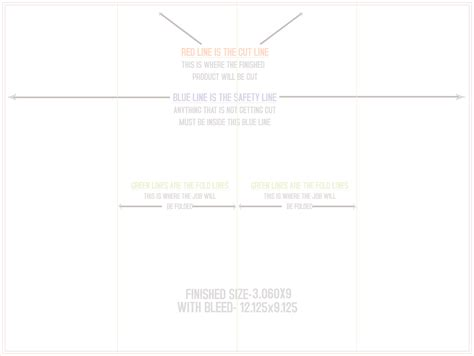 parallel fold template print dies templates