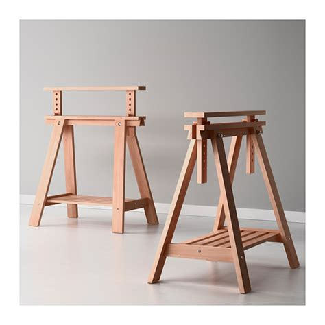 Finnvard Trestle With Shelf by Finnvard Trestle With Shelf Beech Furniture Source