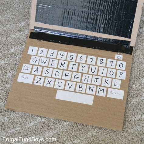 how to make cards on computer literacy learning with a cardboard laptop frugal for