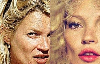 Kate Moss Spices Up by Kate Moss With And Without Photoshop She Was Held Up As