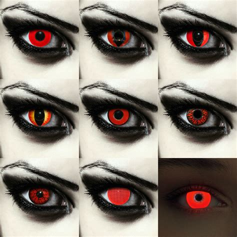 scary colored contacts colored costume contacts scary