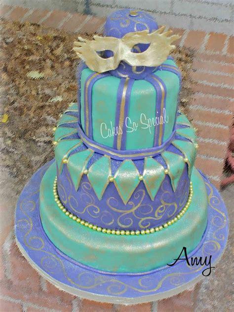mardi gras birthday cake    cakes   single layer  cake    yr  girls