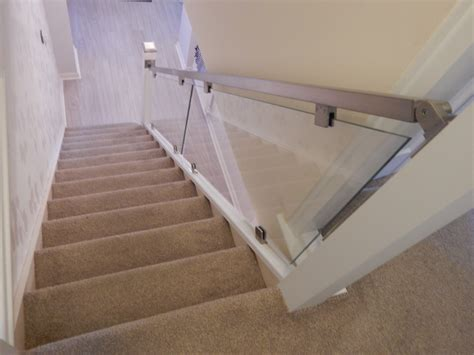 Wood And Glass Banister Wood Glass And Chrome Staircase Renovation