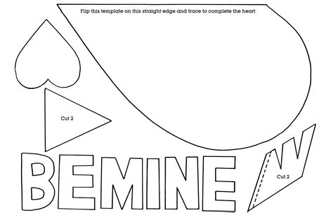 large heart template printable free search results