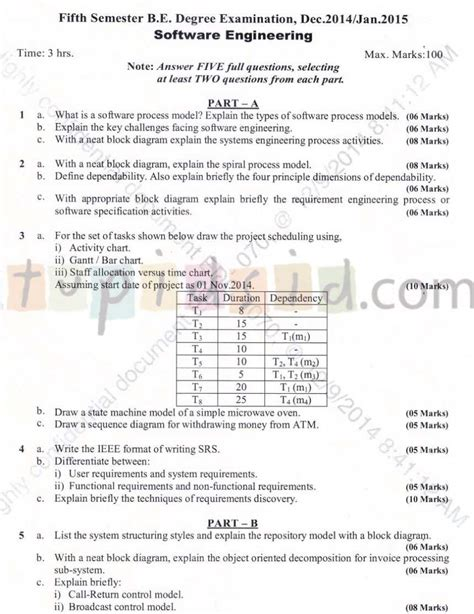 Vtu Mba Question Papers 2nd Sem by Vtu Question Papers 5th Sem Cse Of Operating System 2018