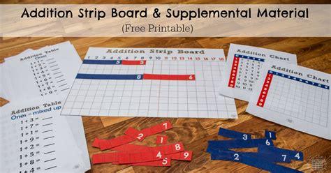 printable montessori addition strip board addition strip board researchparent com
