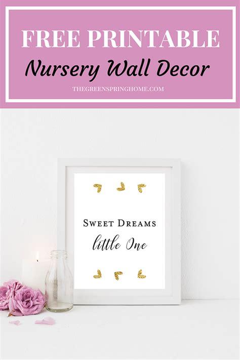 free home decor free printable nursery wall decor the greenspring home