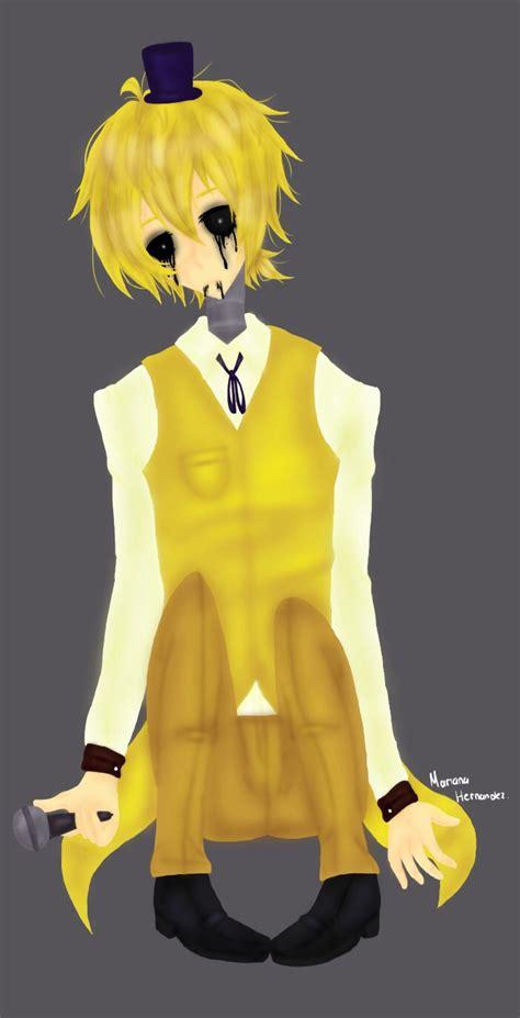golden anime human freddy golden freddy human by mari118 on deviantart