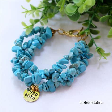Gelang Batu Agate Biru gelang suroboyo biru muda koleksikikie