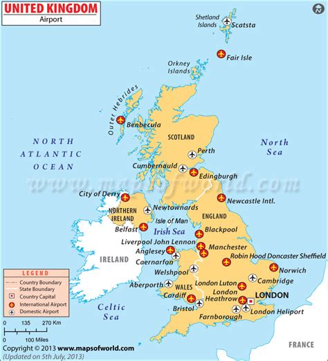 Find In The Uk Uk Airports Map Britain International Airport