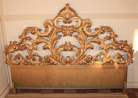 Fancy Headboards Fancy Vintage Carved Wood Rococo Style Regency