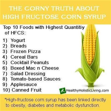 High Fructose Corn Syrup Detox Diet 81 best images about food facts on vitamin b3